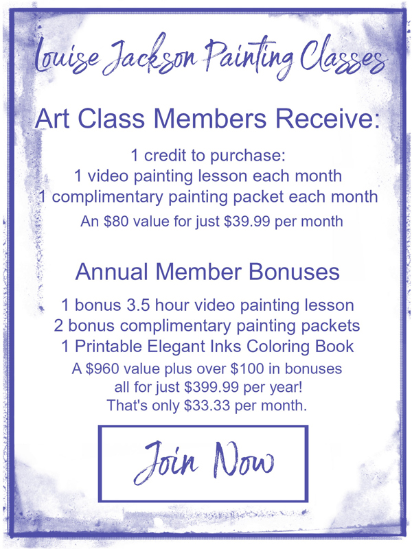 Join Now Button for Louise Jackson Painting Classes Art Class Membership