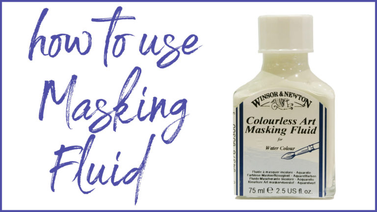 Learn how to use masking fluid. Free tutorial image.