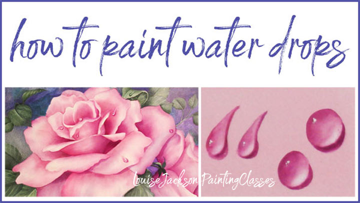 Learn how to paint water drops using watercolors or acrylic paints.