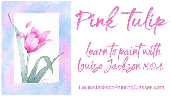 Pink Tulip painting
