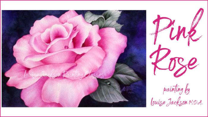 Pink Rose Watercolor Painting