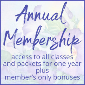 Annual Membership Button for Louise Jackson Painting Classes