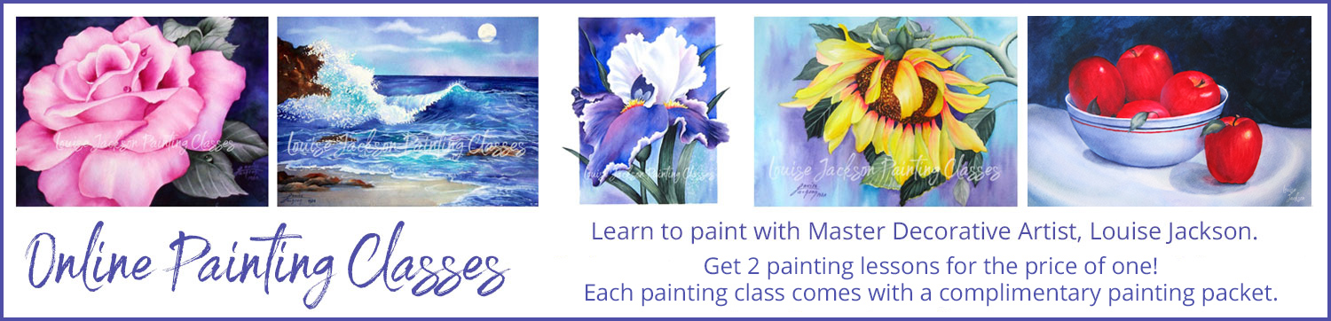 Online Painting Classes with Louise Jackson, Master Decorative Artist
