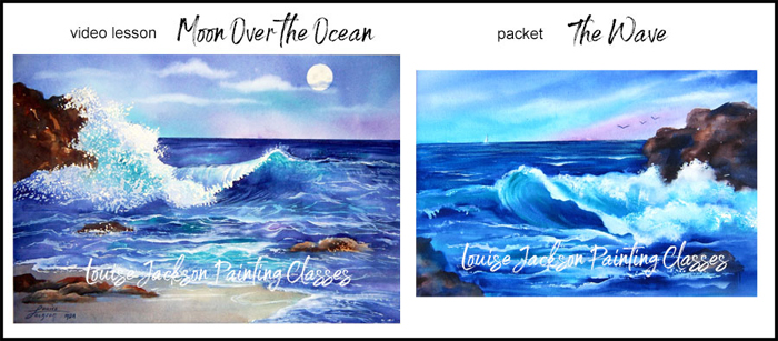 Moon over the Ocean Video Lesson and The Wave Packet Image