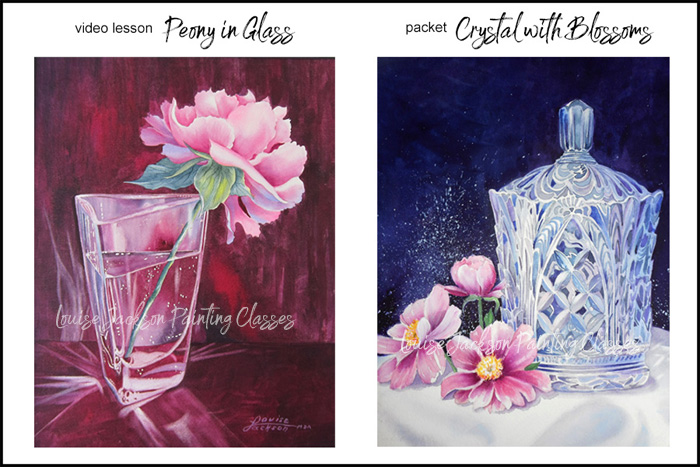Peony in Glass Video Lesson and