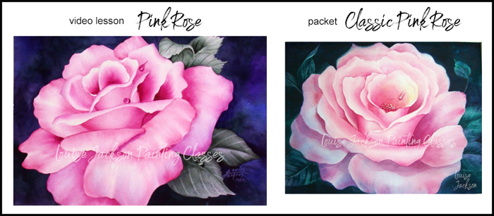 Bright Pink Rose Video Lesson Image and Classic Pink Rose Packet Image