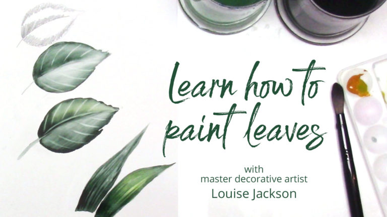 learn how to paint leaves
