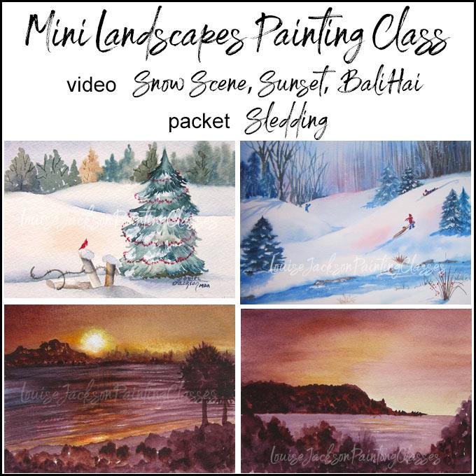 Mini Landscapes Online Painting Class